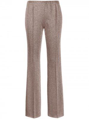 Расклешенные брюки с блестками Missoni. Цвет: коричневый