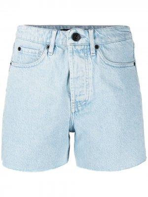 Джинсовые шорты с необработанными краями 3x1. Цвет: синий