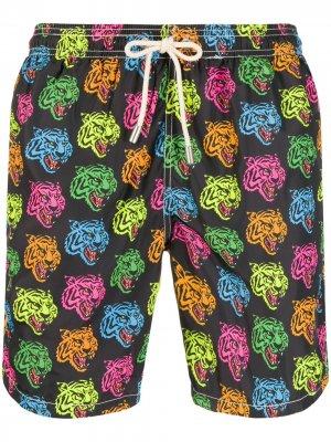 Плавки-шорты с принтом Mc2 Saint Barth. Цвет: черный