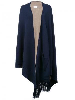 Асимметричная куртка-кейп Yigal Azrouel. Цвет: черный