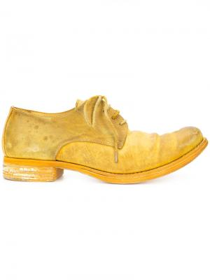 Туфли на шнуровке A Diciannoveventitre. Цвет: желтый