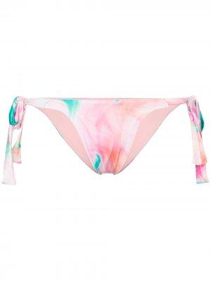 Плавки бикини Veronica с абстрактным принтом Frankies Bikinis. Цвет: розовый