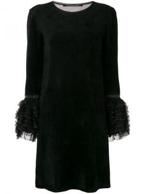Ruffled cuff dress Antonino Valenti. Цвет: черный