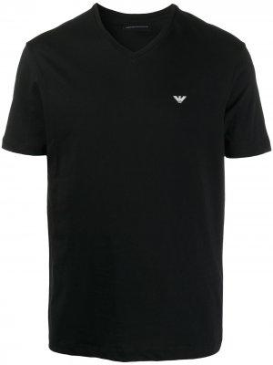 Logo-print cotton T-shirt Emporio Armani. Цвет: черный