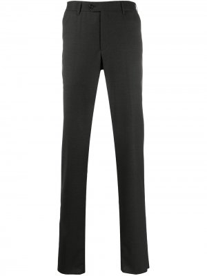 Строгие брюки средней посадки Corneliani. Цвет: серый