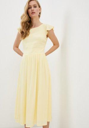 Платье Vila. Цвет: желтый