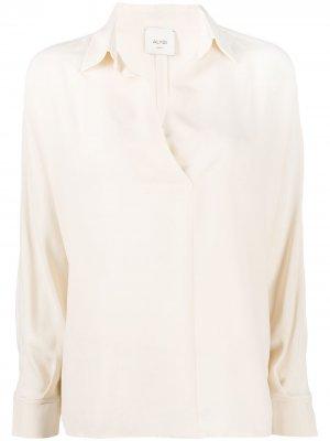 Блузка с V-образным вырезом Alysi. Цвет: белый