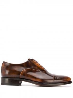Оксфорды Lorenzo на шнуровке Scarosso. Цвет: коричневый