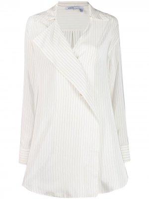 Рубашка с запахом Agnona. Цвет: белый
