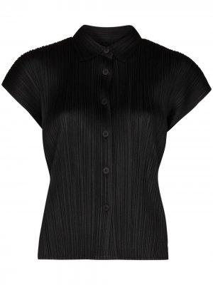 Плиссированная футболка с короткими рукавами Pleats Please Issey Miyake. Цвет: черный