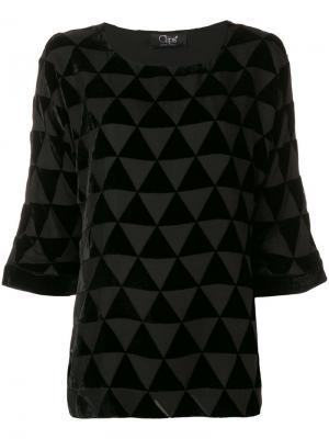 Блузка с треугольным мозаичным узором Clips. Цвет: черный
