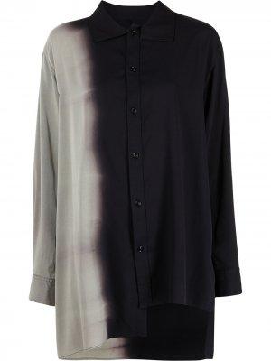 Ys рубашка оверсайз с эффектом градиента Y's. Цвет: синий