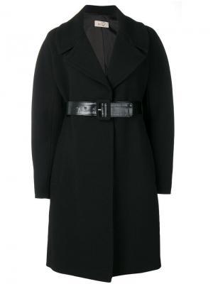 Belted coat Ki6. Цвет: черный
