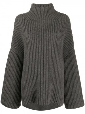 Джемпер фактурной вязки Nanushka. Цвет: серый