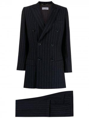 Костюм-двойка в тонкую полоску Dolce & Gabbana Pre-Owned. Цвет: синий