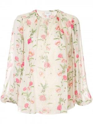 Блузка с цветочным принтом Giambattista Valli. Цвет: желтый