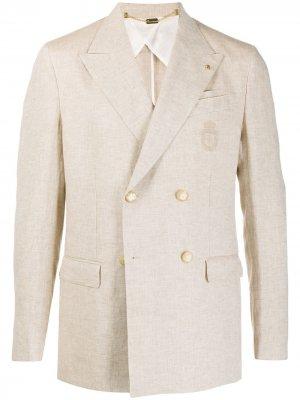 Двубортный пиджак Billionaire. Цвет: нейтральные цвета