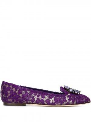 Слиперы Vally Dolce & Gabbana. Цвет: фиолетовый