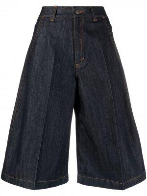 Джинсовые шорты с завышенной талией Société Anonyme. Цвет: синий