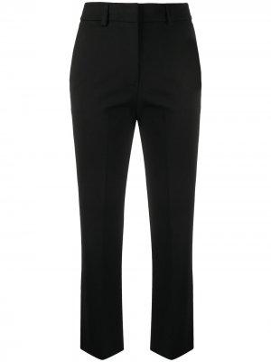 Укороченные брюки прямого кроя Twin-Set. Цвет: черный
