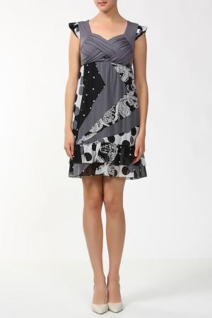 Платье Анора. Цвет: серый