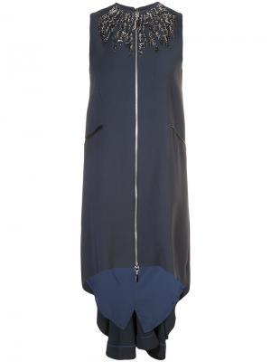 Платье Primal Thomas Wylde. Цвет: синий