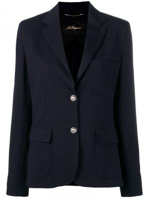 Classic single-breasted blazer Les Copains. Цвет: синий