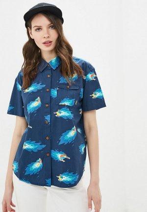 Рубашка Element. Цвет: синий
