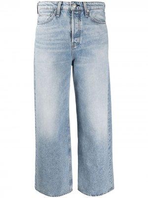 Укороченные джинсы широкого кроя Rag & Bone. Цвет: синий