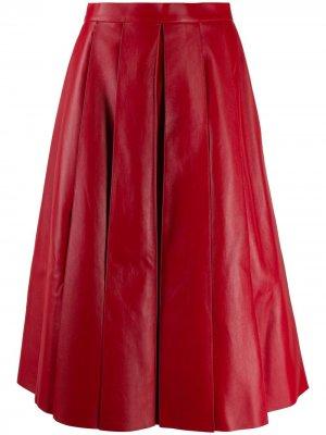 Плиссированная юбка миди Alexander McQueen. Цвет: красный
