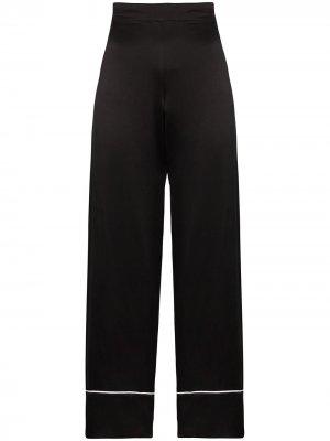 Пижамные брюки London Asceno. Цвет: черный
