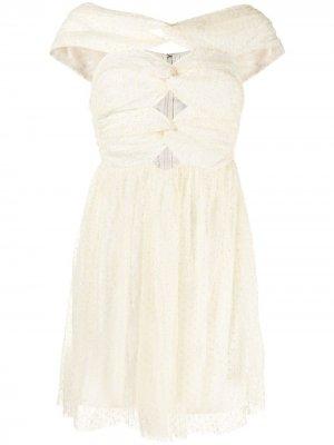 Платье Illy с открытыми плечами Alice McCall. Цвет: желтый