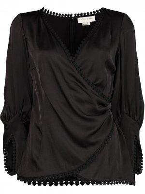Блузка Gwen с запахом Sachin & Babi. Цвет: черный