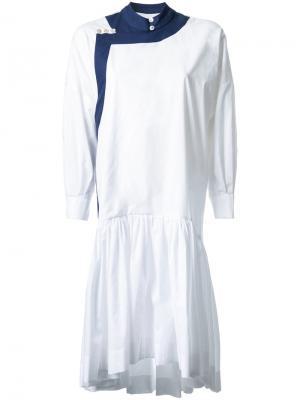 Платье шифт с кисточками Antonio Marras. Цвет: белый
