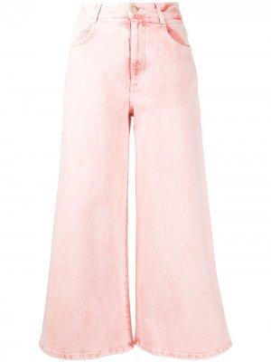 Укороченные джинсы Stella McCartney. Цвет: розовый