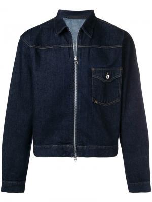 Джинсовая куртка на молнии Tiger Of Sweden. Цвет: синий