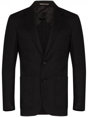 Однобортный пиджак с заостренными лацканами Canali. Цвет: черный