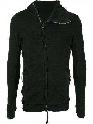 Полосатая куртка с капюшоном Boris Bidjan Saberi. Цвет: черный