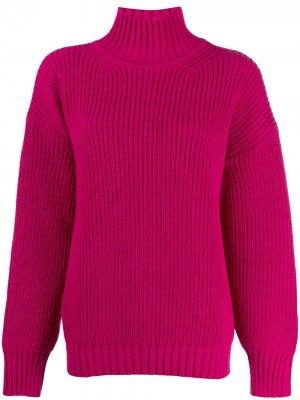 Джемпер крупной вязки с высоким воротником MSGM. Цвет: розовый