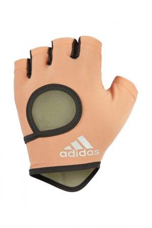 Перчатки для фитнеса ADIDAS. Цвет: коралловый
