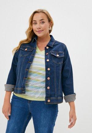 Куртка джинсовая Evans. Цвет: синий