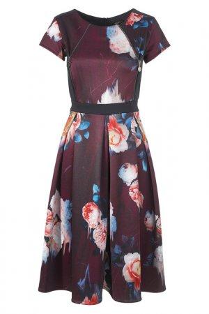 Платье Apart. Цвет: бордовый