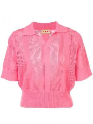 Трикотажная рубашка-поло Le Phare Lhd. Цвет: розовый