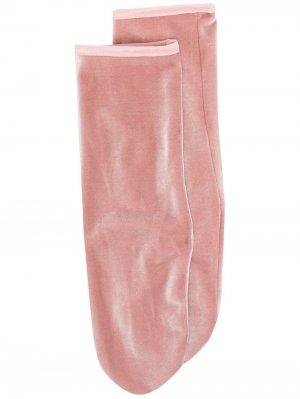 Бархатные носки по щиколотку Simone Wild. Цвет: розовый