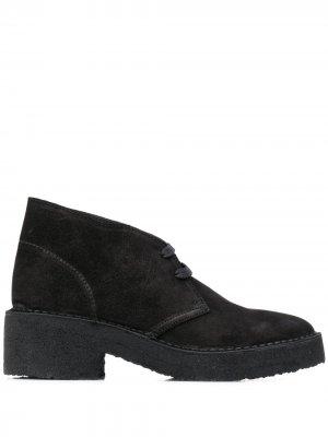 Ботинки дезерты на шнуровке Clarks Originals. Цвет: черный