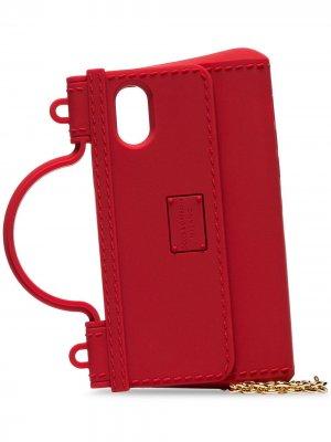 Чехол для iPhone X в форме сумки Dolce & Gabbana. Цвет: красный