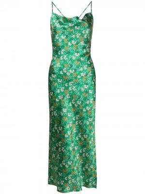 LAutre Chose платье-комбинация с цветочным принтом L'Autre. Цвет: зеленый