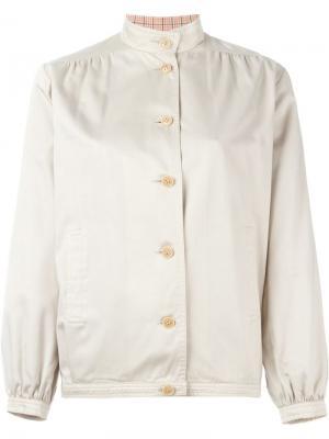 Куртка с воротником-мандарин Céline Vintage. Цвет: нейтральные цвета
