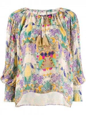 Блузка Inka с кисточками Chufy. Цвет: желтый