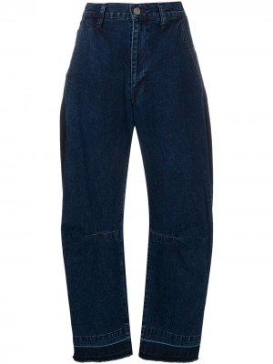 Ys широкие джинсы с завышенной талией Y's. Цвет: синий